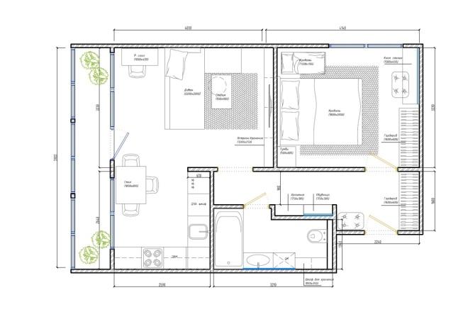 Планировочное решение вашего дома, квартиры, или офиса 9 - kwork.ru