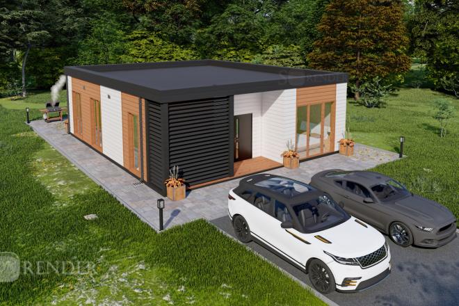 Фотореалистичная 3D визуализация экстерьера Вашего дома 30 - kwork.ru