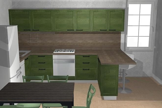 Создам 3D дизайн-проект кухни вашей мечты 12 - kwork.ru