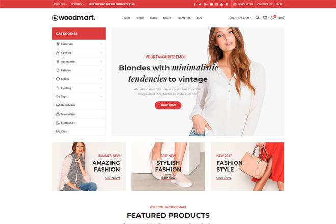 50 премиум тем WP для интернет-магазина на WooCommerce 3 - kwork.ru
