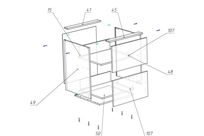 Конструкторская документация для изготовления мебели 39 - kwork.ru