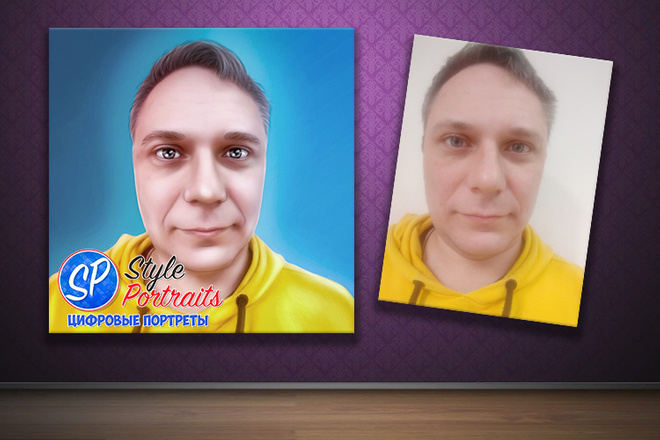 Цифровой портрет 5 - kwork.ru