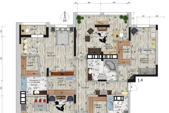 Интересные планировки квартир 23 - kwork.ru