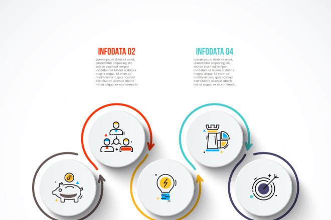 Набор инфографики. 13 тематик, 800 шаблонов, 2 пакета иконок 23 - kwork.ru
