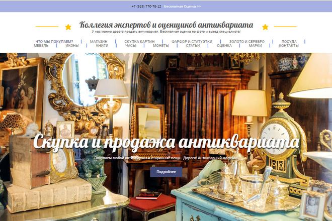 Скопирую почти любой сайт, landing page под ключ с админ панелью 22 - kwork.ru