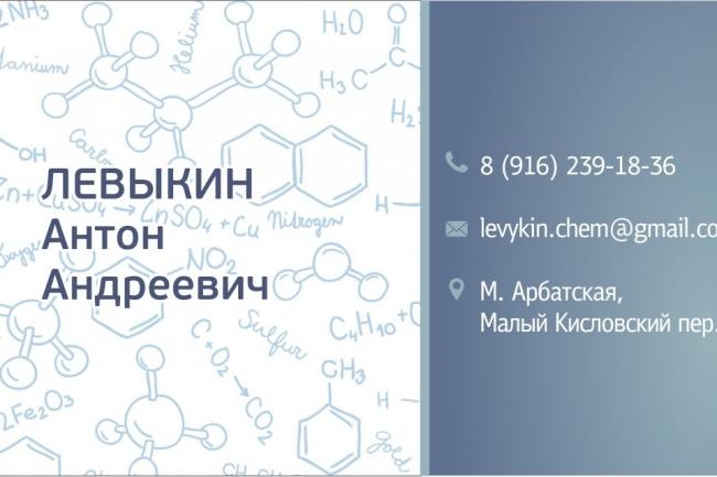 Макет визитки 31 - kwork.ru