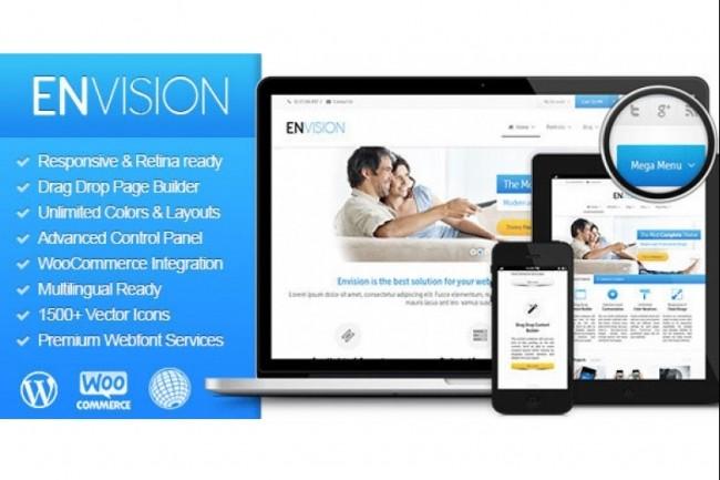 Тема Envision для WordPress на русском с обновлениями и плагинами 4 - kwork.ru