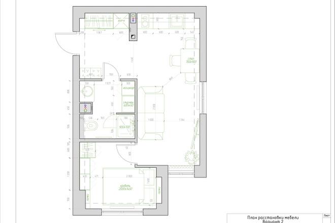 Планировочное решение квартиры, дома. Перепланировка. Планировка 3 - kwork.ru
