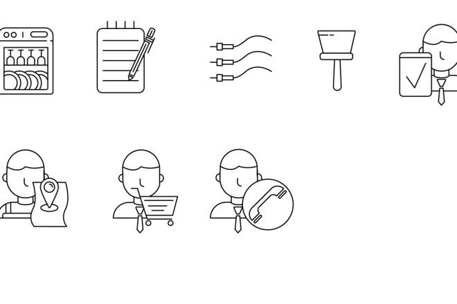 Нарисую векторные иконки для сайта, соц. сетей, приложения 13 - kwork.ru