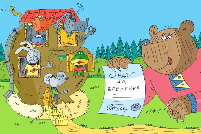 Оперативно нарисую юмористические иллюстрации для рекламной статьи 82 - kwork.ru