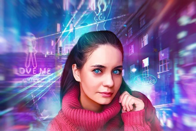 Качественный Digital Art Портрет 10 - kwork.ru