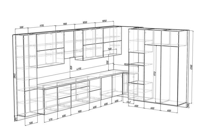 Конструкторская документация для изготовления мебели 41 - kwork.ru
