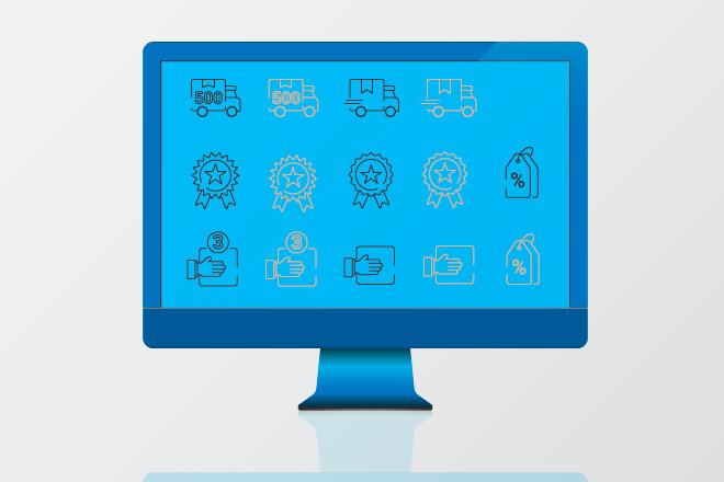Нарисую иконки для сайта 19 - kwork.ru