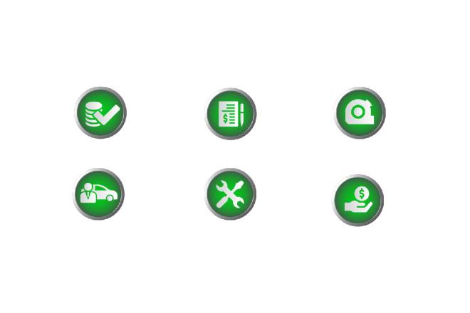Нарисую 8 иконок 3 - kwork.ru