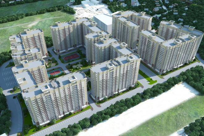 Качественная 3D визуализация фасадов домов 7 - kwork.ru
