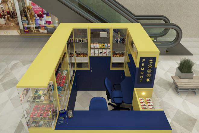 3D моделинг и визуализация торгового острова 3 - kwork.ru