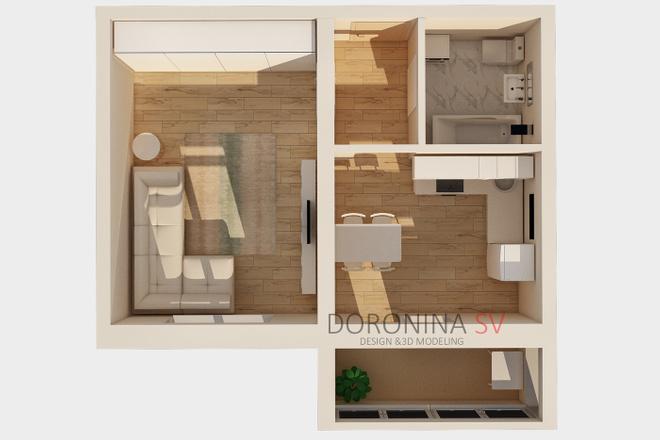 3Д план квартиры или дома 3 - kwork.ru