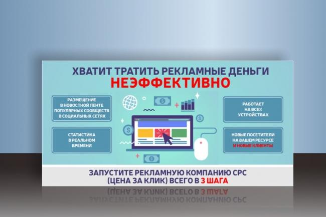 Сделаю запоминающийся баннер для сайта, на который захочется кликнуть 72 - kwork.ru
