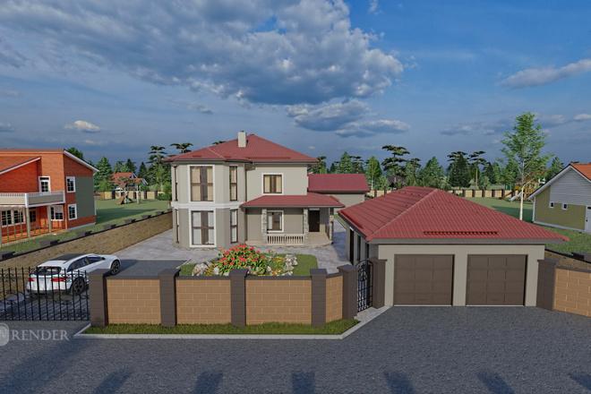 Фотореалистичная 3D визуализация экстерьера Вашего дома 60 - kwork.ru