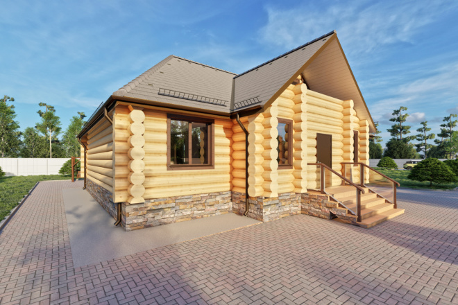 Фотореалистичная 3D визуализация экстерьера Вашего дома 93 - kwork.ru