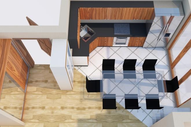 Создам планировку дома, квартиры с мебелью 4 - kwork.ru