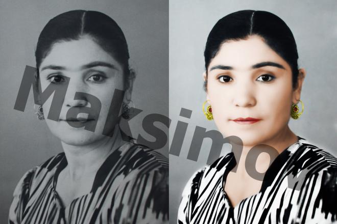 Реставрация фотографии, из чб в цветной, коррекция, восстановление 2 - kwork.ru
