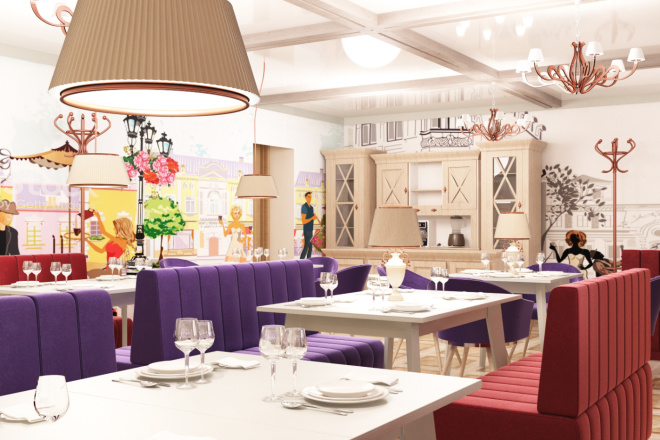 Интерьеры ресторанов, кафе 5 - kwork.ru