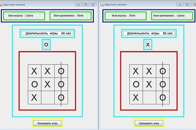 Игра Крестики - нолики с исходным кодом на Java 3 - kwork.ru