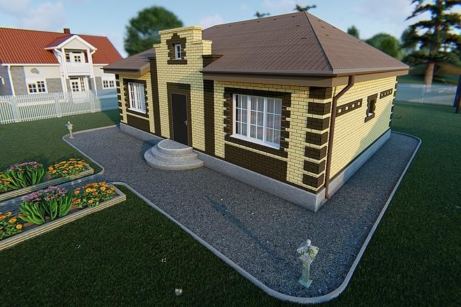 Фотореалистичная 3D визуализация экстерьера Вашего дома 171 - kwork.ru