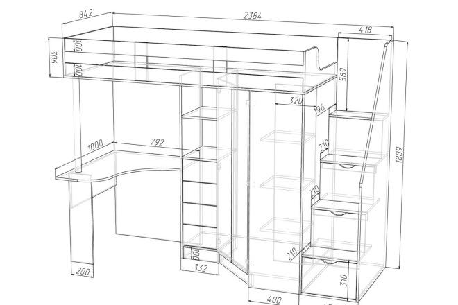 Конструкторская документация для изготовления мебели 4 - kwork.ru