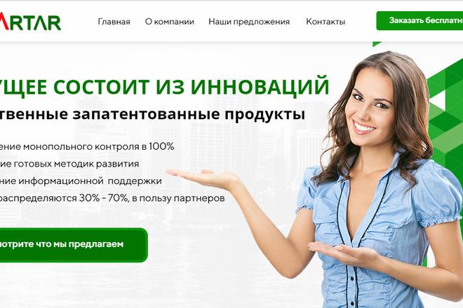 Качественная копия лендинга с установкой панели редактора 62 - kwork.ru