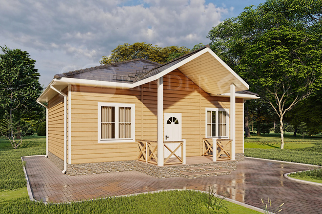 Фотореалистичная 3D визуализация экстерьера Вашего дома 39 - kwork.ru