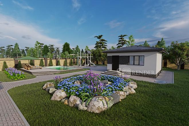 Фотореалистичная 3D визуализация экстерьера Вашего дома 48 - kwork.ru