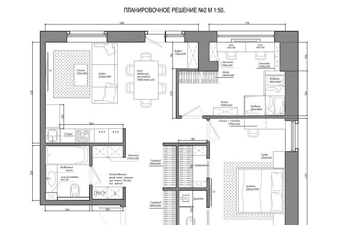 Планировочное решение вашего дома, квартиры, или офиса 30 - kwork.ru