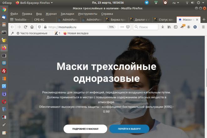 Скопирую страницу любой landing page с установкой панели управления 68 - kwork.ru