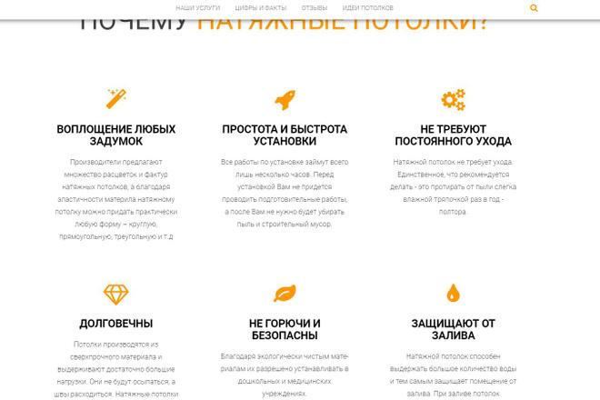 Лендинг для любых целей на Wordpress 65 - kwork.ru