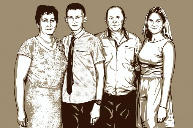 Качественный поп-арт портрет по вашей фотографии 47 - kwork.ru