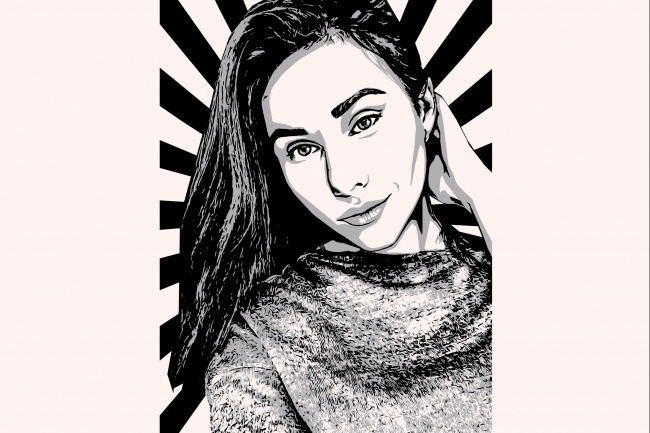 Качественный поп-арт портрет по вашей фотографии 45 - kwork.ru