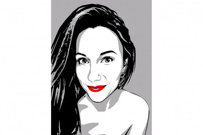 Качественный поп-арт портрет по вашей фотографии 43 - kwork.ru