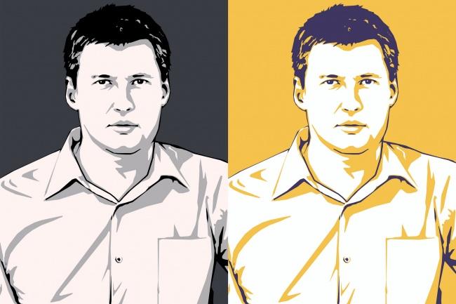 Качественный поп-арт портрет по вашей фотографии 54 - kwork.ru
