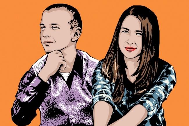 Качественный поп-арт портрет по вашей фотографии 49 - kwork.ru
