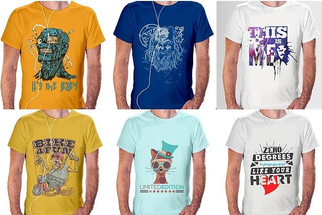 Дизайн футболки - оригинально, современно, остроумно 1 - kwork.ru