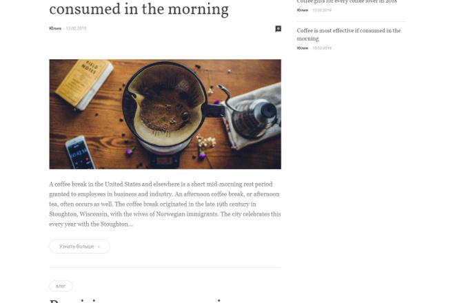 Создам красивый адаптивный блог, новостной сайт 14 - kwork.ru