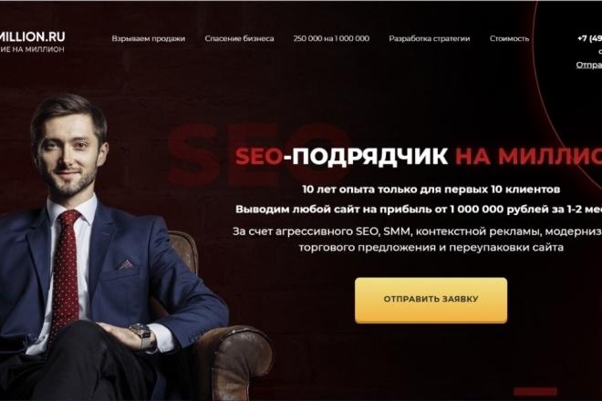 Продающий Landing Page под ключ 1 - kwork.ru