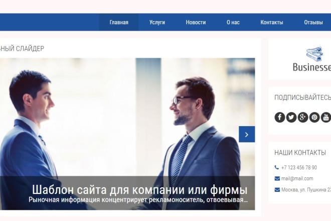 Готовый шаблон бизнес сайта на Joomla 2 - kwork.ru