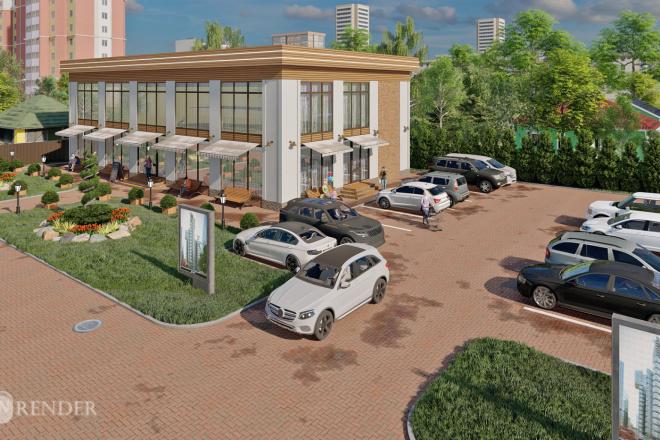 3D Визуализация коммерческих и административных зданий 7 - kwork.ru