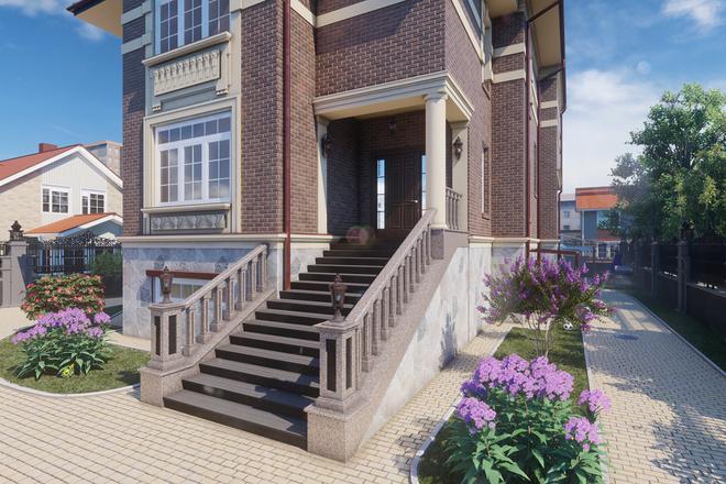 Моделирование и визуализация зданий 47 - kwork.ru