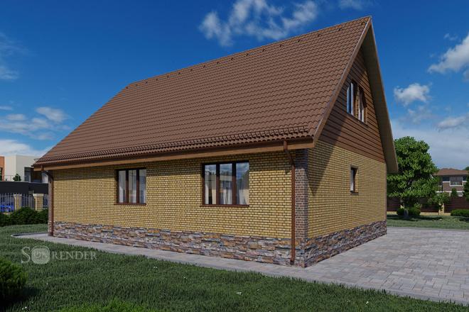Фотореалистичная 3D визуализация экстерьера Вашего дома 52 - kwork.ru
