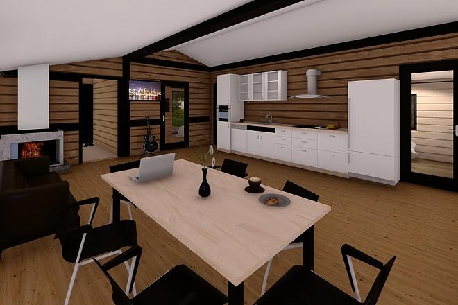 Фотореалистичная 3D визуализация экстерьера Вашего дома 175 - kwork.ru