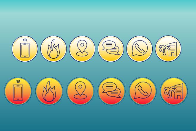 Нарисую иконки для сайта 14 - kwork.ru